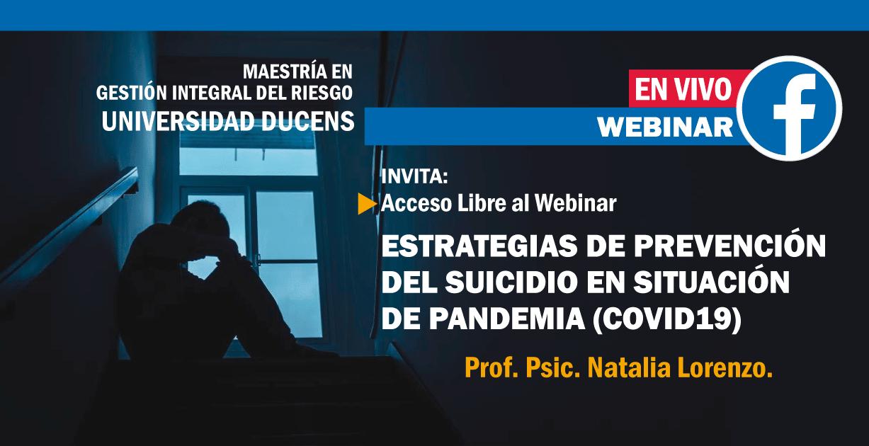 Estrategias de prevención del suicidio en situación de pandemia (Covid19)
