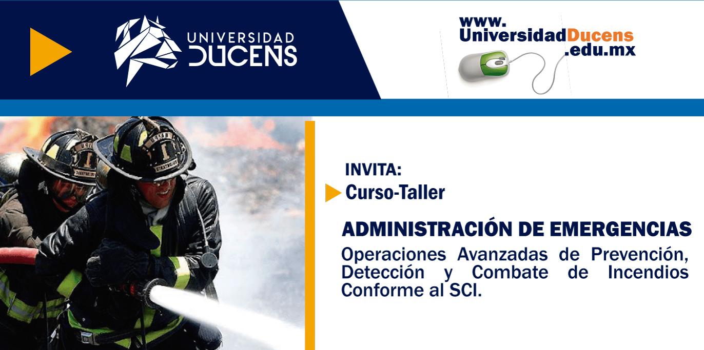 Curso taller: Administración de Emergencias